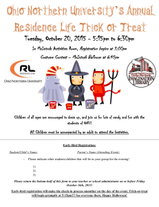 's Annual Ohio Northern University Residence Life Trick or Treat