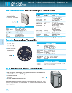 Action Instruments Low Profile Signal Conditioners