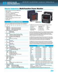 Electro Industries Multi-Function Power Monitor