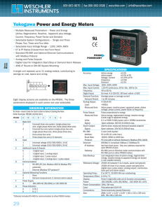 Yokogawa Power and Energy Meters