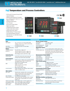Fuji Temperature and Process Controllers