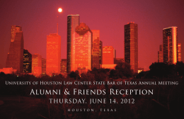 Alumni & Friends Reception THURSDAY, JUNE 14, 2012