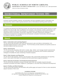 Instructional Improvement System (IIS) Vision