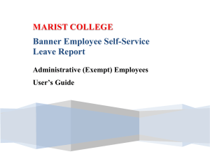 Banner Employee Self-Service Leave Report Administrative (Exempt) Employees