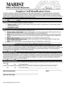 Employee Self Identification Form