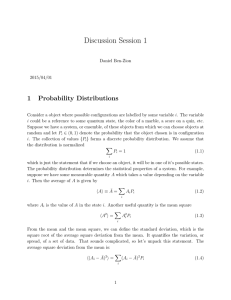 Discussion Session 1 1 Probability Distributions