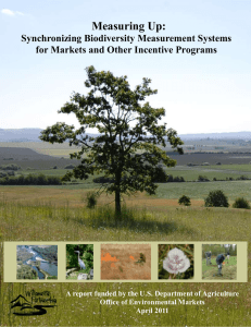 Measuring Up:  Synchronizing Biodiversity Measurement Systems for Markets and Other Incentive Programs