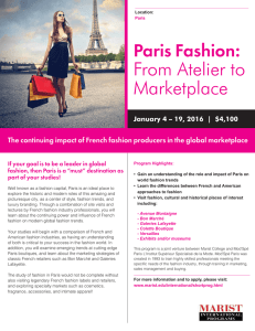 Paris Fashion: From Atelier to Marketplace