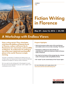 Fiction Writing in Florence A Workshop with Endless Views