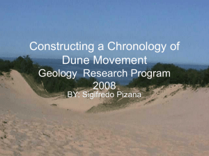 Constructing a Chronology of Dune Movement Geology  Research Program 2008