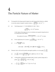 4 The Particle Nature of Matter