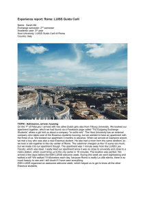 Experience report: Rome: LUISS Guido Carli