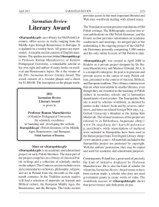 Literary Award Sarmatian Review