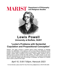 Lewis Powell Locke's Problems with Sentential Copulation and Propositional Conception