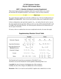 UCSD Summer Session Physics 2B Formula Sheet