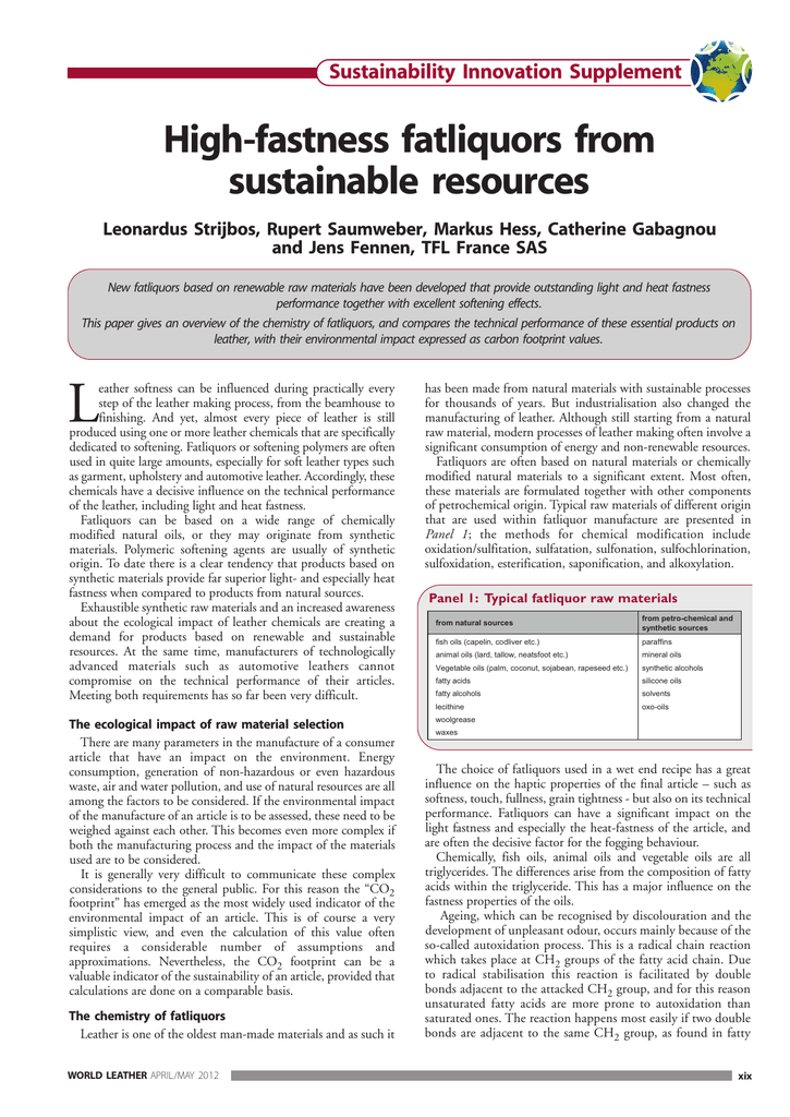 L Sustainability Innovation Supplement