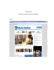 CHAPTER VIII APPENDIX: SCREEN SHOTS OF WEBSITES Figure 1