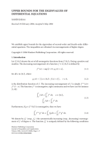 UPPER BOUNDS FOR THE EIGENVALUES OF DIFFERENTIAL EQUATIONS