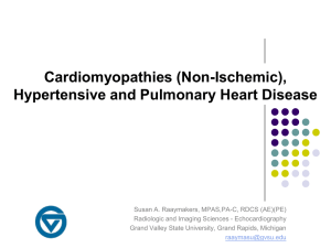 Cardiomyopathies (Non-Ischemic), Hypertensive and Pulmonary Heart Disease