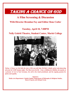 Taking a ChanCe on god A Film Screening & Discussion