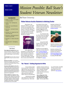 Fellow Veteran Assists Students in Advising Center