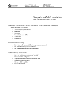 Computer-Aided Presentation