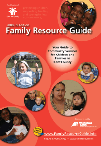 Family Resource Guide FamilyResourceGuide Your Guide to Community Services