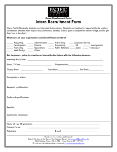 Intern Recruitment Form