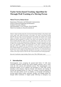 Taylor Series-based Tracking Algorithm for Through-Wall Tracking of a Moving Person