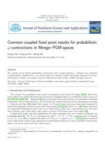 Common coupled fixed point results for probabilistic ϕ-contractions in Menger PGM-spaces
