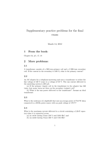 Supplementary practice problems for the final exam 1 From the book: