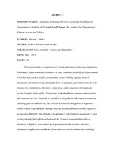 ABSTRACT RESEARCH PAPER: Solution in American Politics