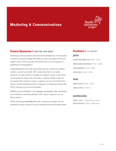 Marketing & Communications Freelance | Project Resources | print
