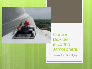 Carbon Dioxide in Earth's Atmosphere