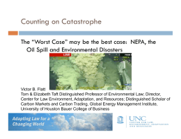 Counting on Catastrophe Oil Spill and Environmental Disasters