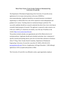 Micro/Nano Tenure-Track Faculty Position in Mechanical Eng University of Louisville