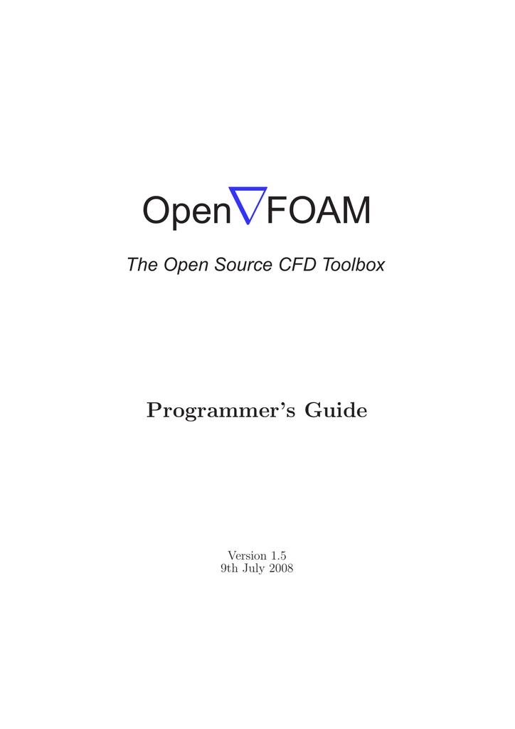 ∇ Open FOAM Programmer's Guide