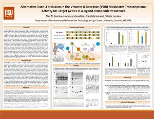 Alternative Exon 3 Inclusion in the Vitamin D Receptor (VDR)... Activity for Target Genes in a Ligand-Independent Manner.