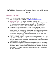 CMPS 1033 – Introductory Topics in Computing – Web Design (Honors)