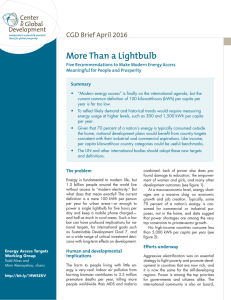 More Than a Lightbulb CGD Brief April 2016