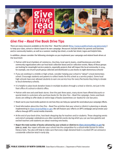 read FIVE Give Five – Read Five
