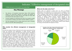 Indicator 7 Effective management of designated sites Key Message