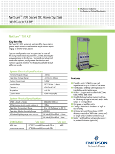 NetSure    701 Series DC Power System Key Benefits