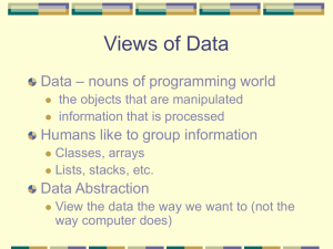 Views of Data – nouns of programming world Data