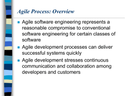 Agile Process: Overview