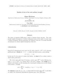 Families of nets of low and medium strength J¨ urgen Bierbrauer Yves Edel
