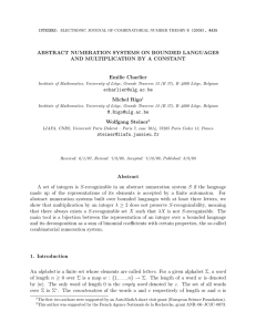 ABSTRACT NUMERATION SYSTEMS ON BOUNDED LANGUAGES AND MULTIPLICATION BY A CONSTANT