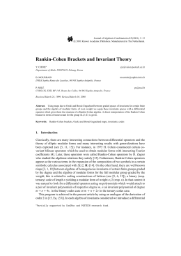 Rankin-Cohen Brackets and Invariant Theory