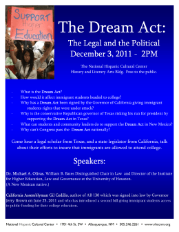 The Dream Act: The Legal and the Political