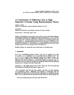 Journal of Algebraic Combinatorics 3 (1994), 137-151